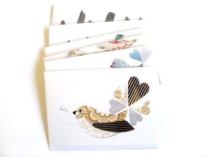 Hello Fantail - blank greeting card