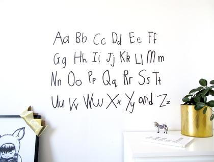 Interactie restickable ABCs wall stickers!