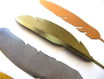 Feather magnets - mixed metallics