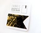 Magnetic bookmark - gold/black!