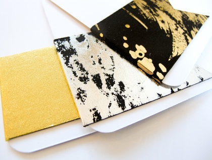 Magnetic bookmark - gold/black!