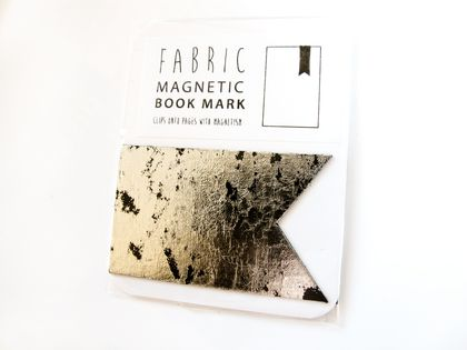Magnetic bookmark - silver/black!
