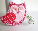 Orla Owl Magnet - upcycled materials