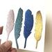 Mini feather magnet set (4)