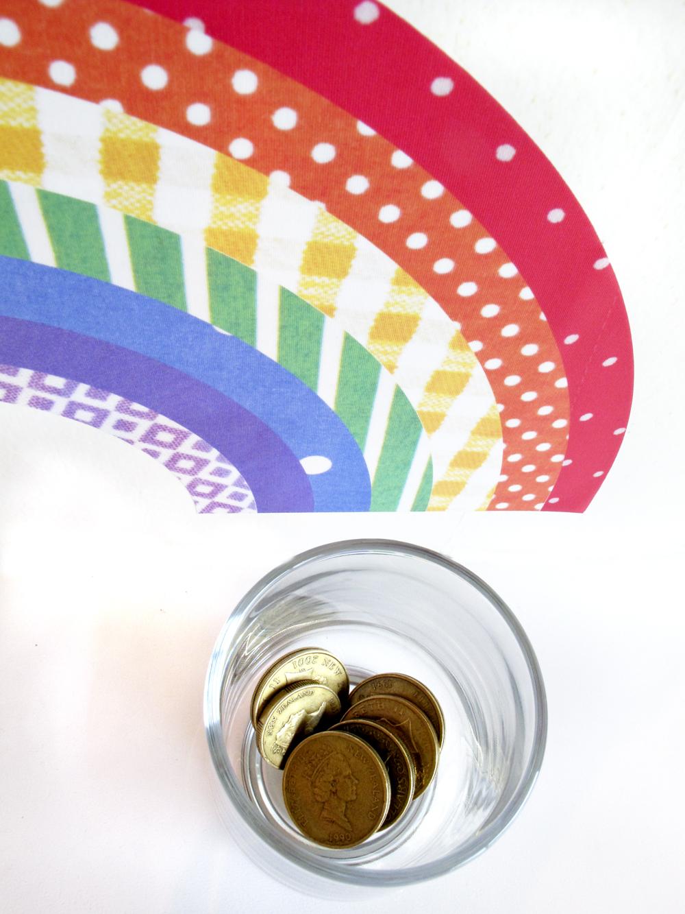 rainbow decal reuseable wall sticker felt hot air balloon rainbow nursery wall stickers