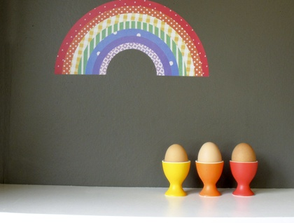 rainbow decal - reuseable wall sticker