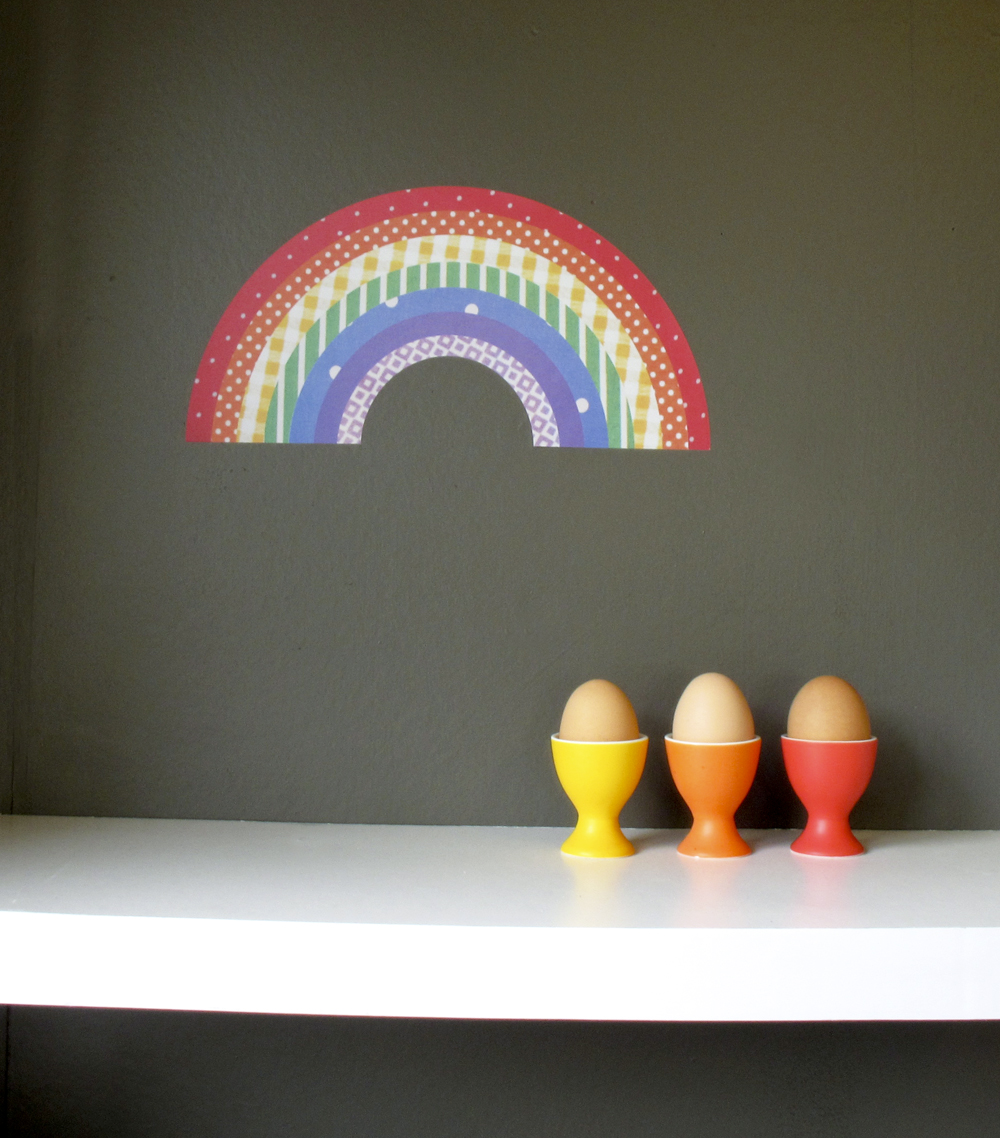 rainbow decal reuseable wall sticker felt rainbow wall sticker large free delivery ebay