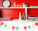 Bunting flag decals - cheerful wall stickers for any room