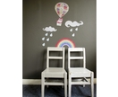 Up, Up & Away decals - reuseable fabric wall stickers, original wallscape