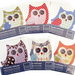 Orange owl - restickable fabric decal