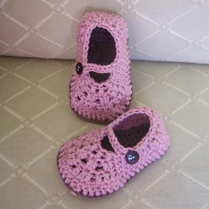 Crochet Basics Mary Janes Babytoddler Pattern Pdf Felt Baby Gift