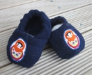 Wool baby shoes / slippers 3-6