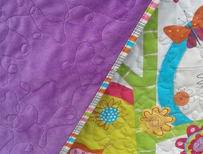 Gorgeous and bright cot quilt - ON SALE