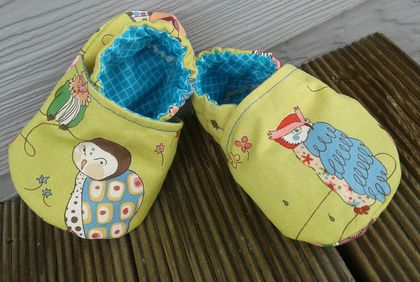 Cotton baby shoes -Angry Owls