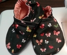 Cotton baby shoes - Butterflies