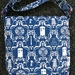 Dr Who damask messenger bag.