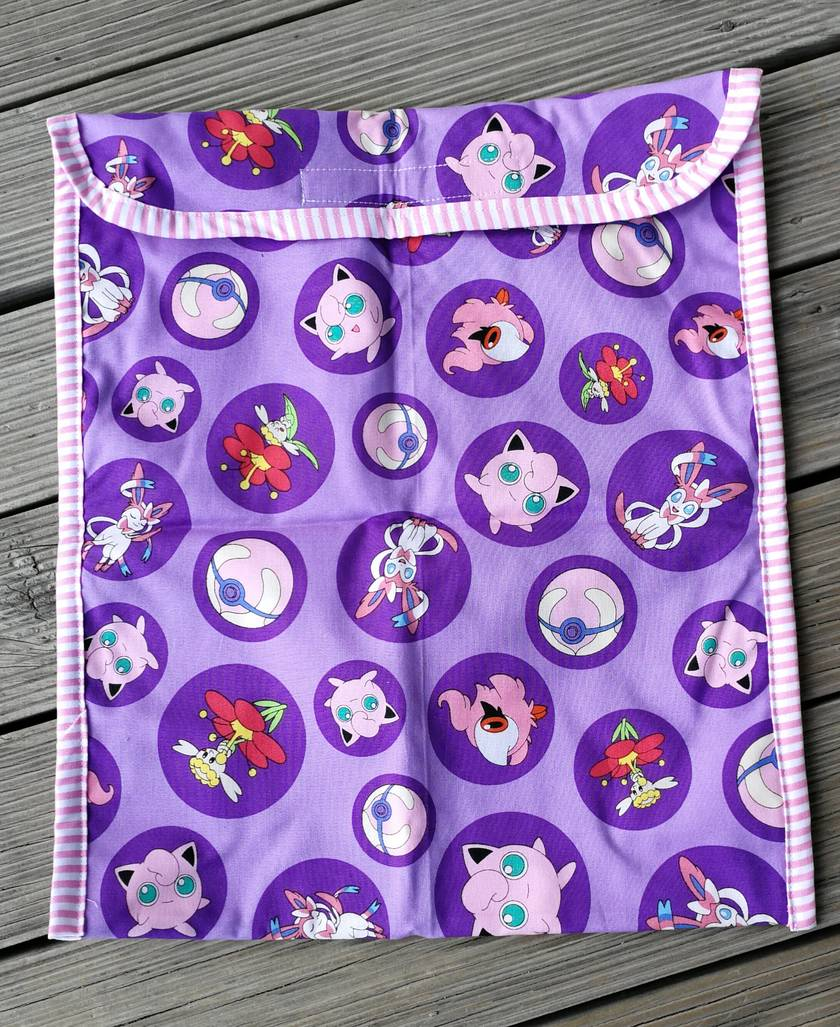 Pink & Purple Pokemon book bag