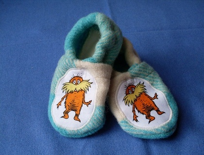 The Lorax baby slippers - SALE