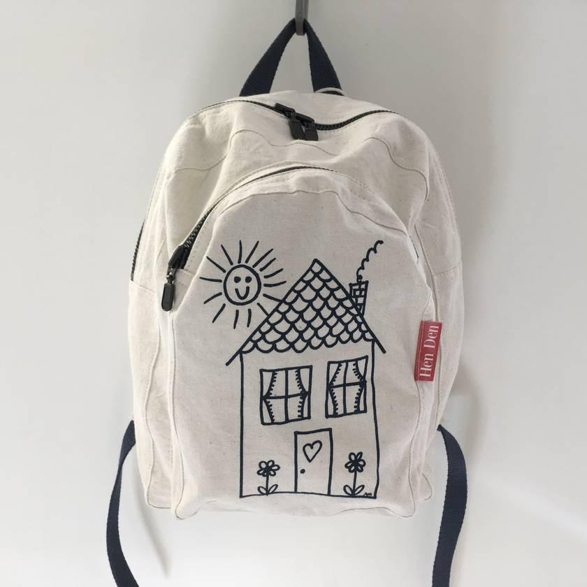Mini Screen Printed Backpack
