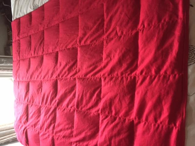 Red Sensory Weighted Blanket Sample Only Custom Made Felt