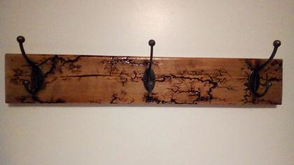 Arty Wall Mounted 3 Hook Coat Rack