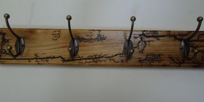 Arty Wall Mounted 4 Hook Coat Rack