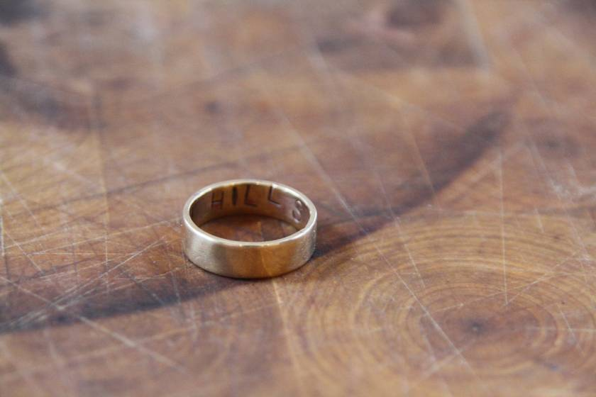 Personalised Polished Brass Ring