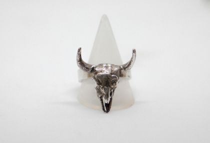 Men's Bison Skull Ring