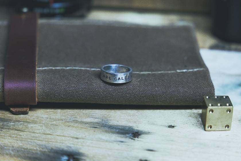 """""""The Mountains are Calling"""" Travel Quote Ring"""