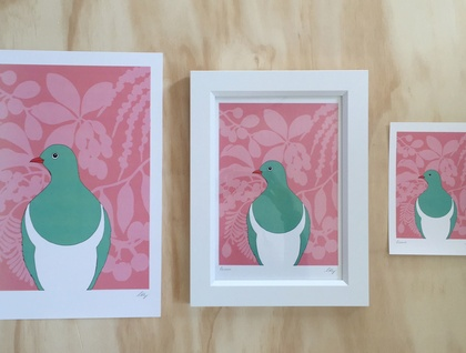 Kereru Colour A4 Art Print