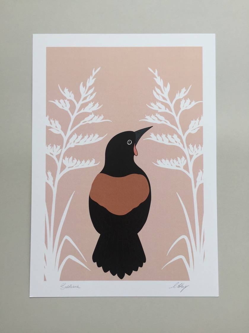 Saddleback, Colour A4 Art Print