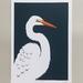 White Heron / Kotuku A4 Art Print