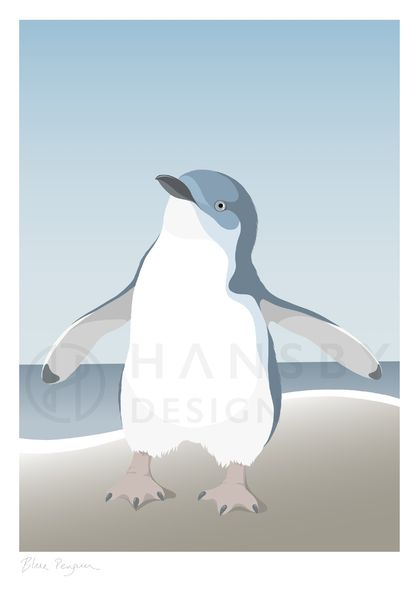 Little Blue Penguin A4 Fine Art Print