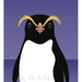 Crested Penguin A4 Fine Art Print