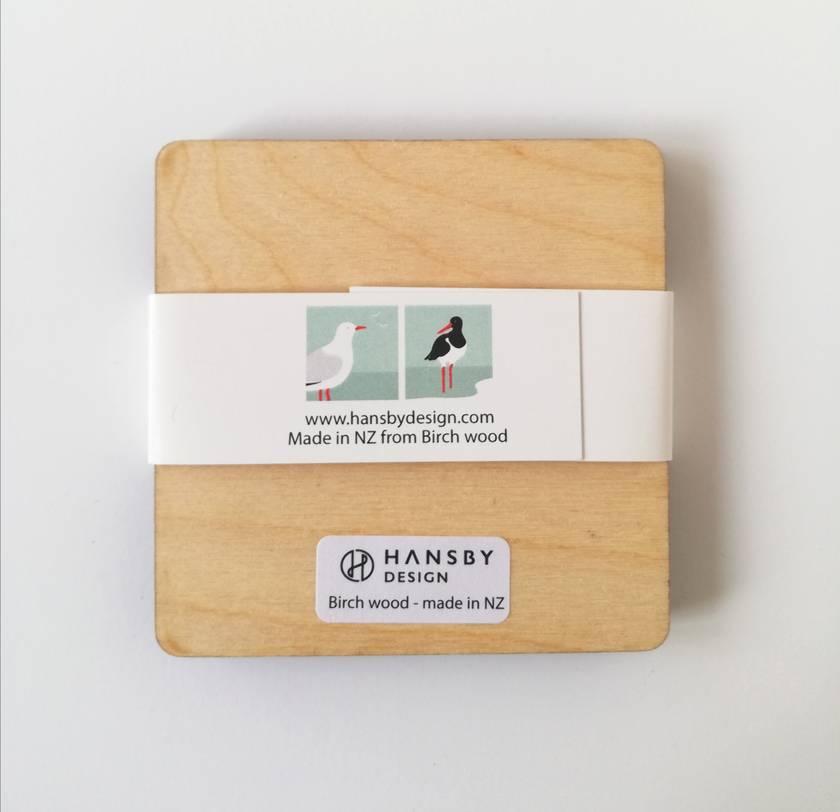 Wooden Coaster set - Seagull & Oyster Catcher