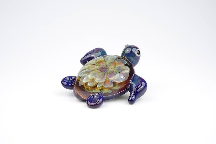 Lampwork Glass Sea Turtle Pendant