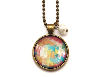 Bright Geometric Necklace