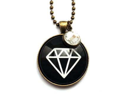Diamond Necklace - Black
