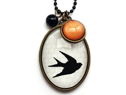 Swallow & Bronze Necklace