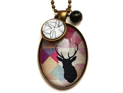 Geometric Stag Necklace