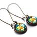 Blue Triangles Earrings
