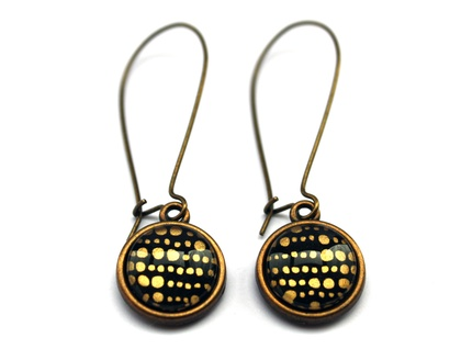 Gold Dotty Earrings