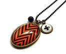 Orange Zig Zag Necklace