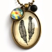 Twin Feathers Necklace