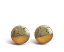 Gold Dipped Granite Studs - Hypoallergenic