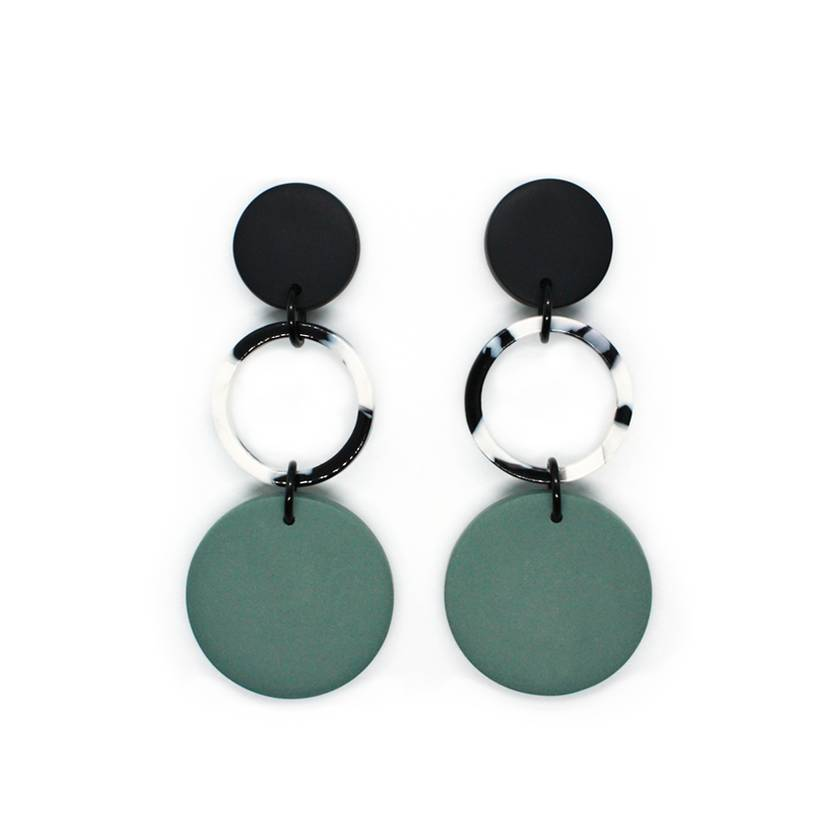 Triple Drop Dangles - Sage Green