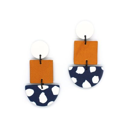 Boston Dangles - Mustard/Navy