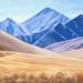 Lindis Pass Print on Canvas by Vicky Clayton