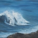 Wave at Dashing Rocks Print on Paper by Vicky Clayton