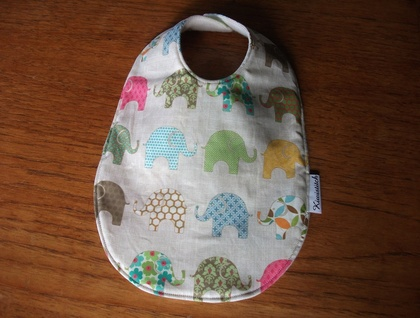 Elephant bib and burp cloth for Claire